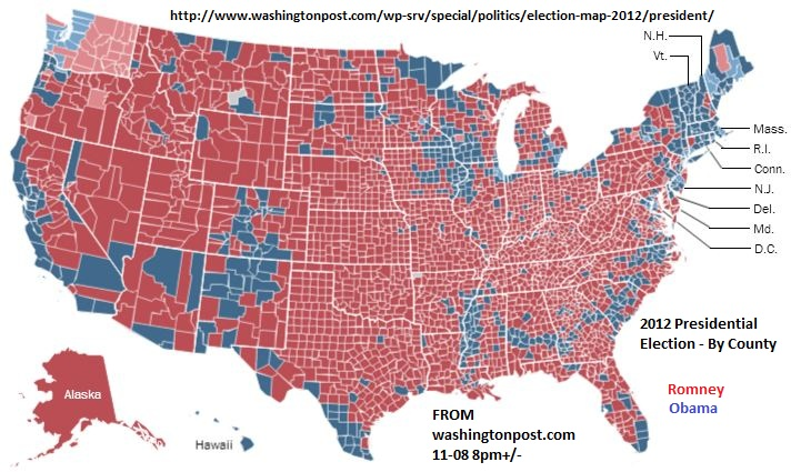 And In States That Are Consistently Blue Washington Oregon You See Solid Blocks Of Republican Votes In The Non Urban Parts Of The States