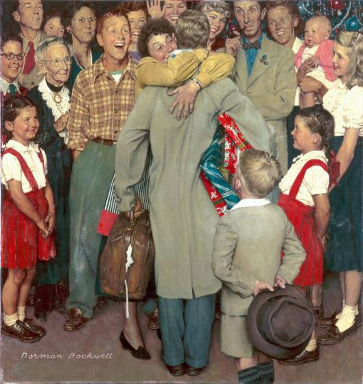 Christmas Homecoming ~ Norman Rockwell, 1948 – found at http://arthistory.about.com/od/from_exhibitions/ig/american_chronicles/aonr_dia_09_14.htm