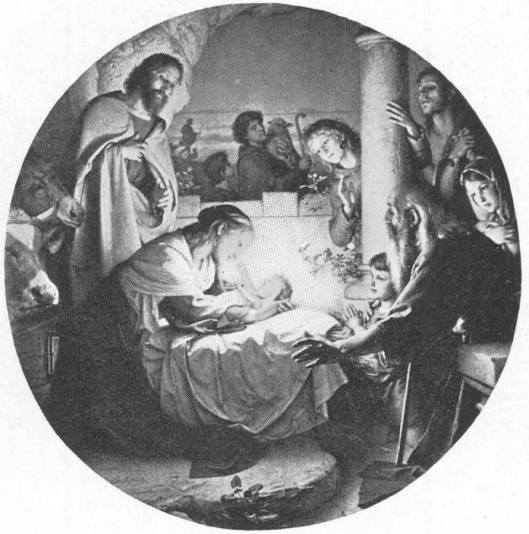 The Nativity ~ Carl Müller. 1839 - credit http://www.gutenberg.org/files/38500/38500-h/images/21.jpg